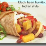 black bean burrito