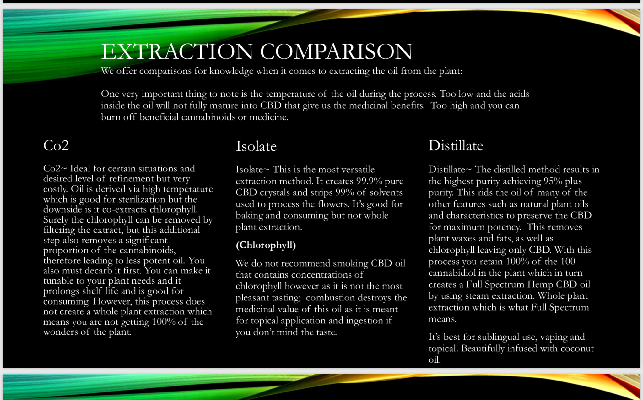 Enlightened Oils.  What is CBD?  Extraction information, definitions and benefits!