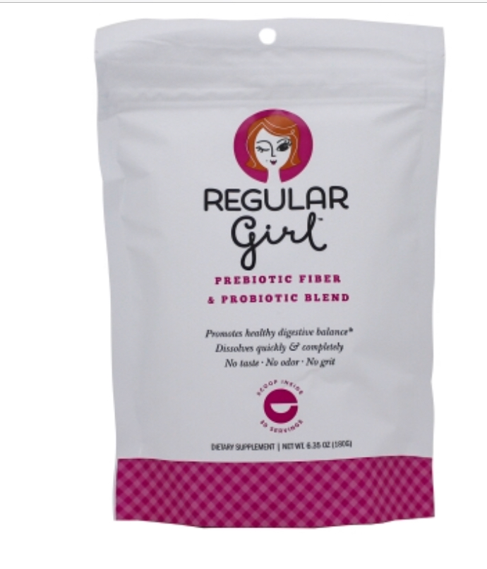 Want to be a Regular Girl? Here's a great idea for a natural, gluten free fiber drink with probiotics!