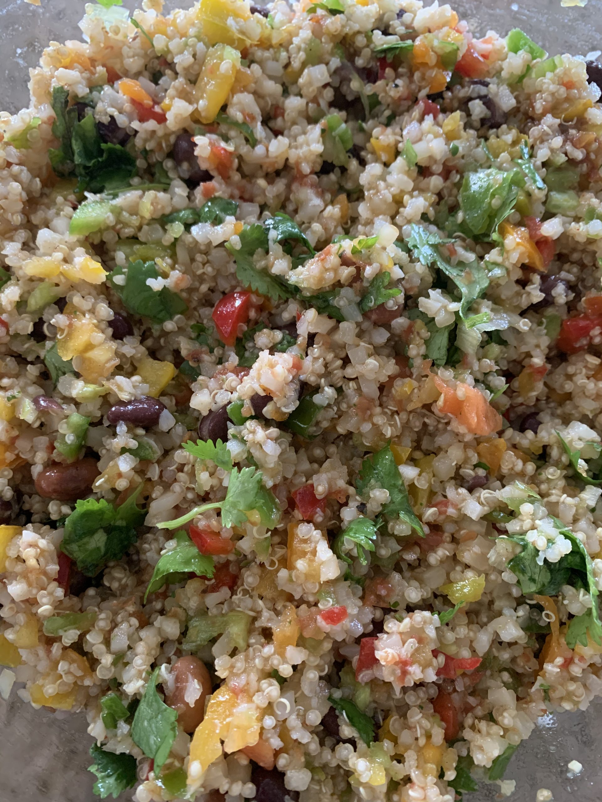 Southwest quinoa and bean salad